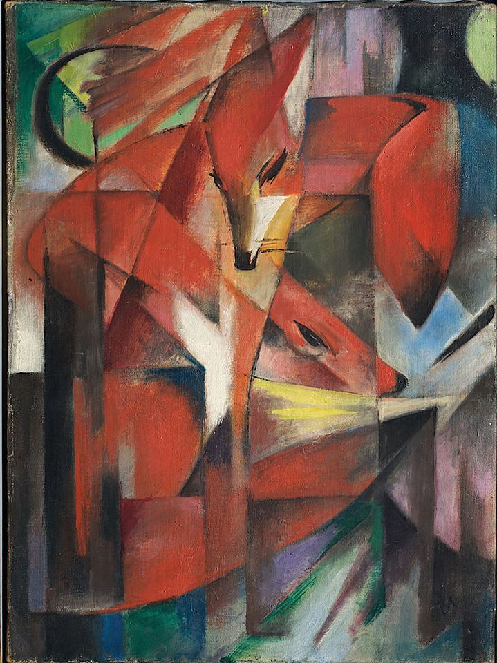 Franz Marc, The Foxes (1913)