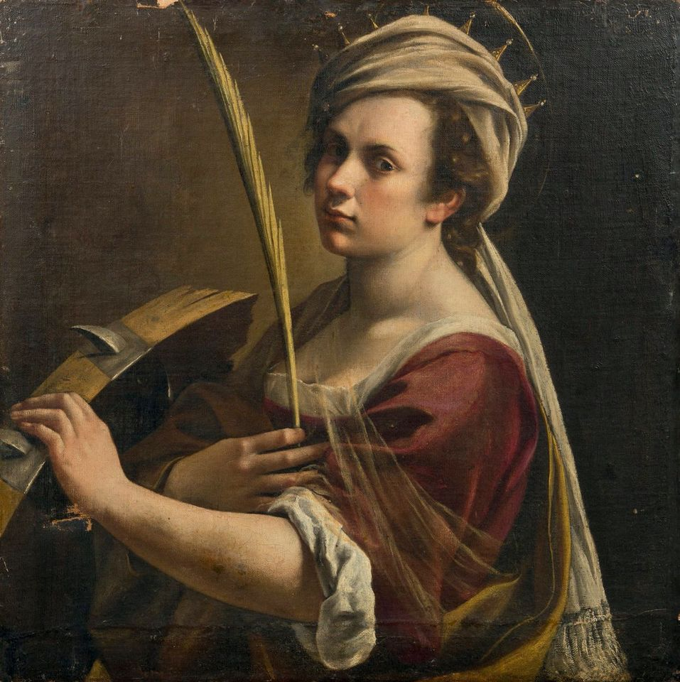 Self-Portrait as Saint Catherine by Artemisia Gentileschi sold at Drouot in Paris on 19 December for €2,360,600, an artist record