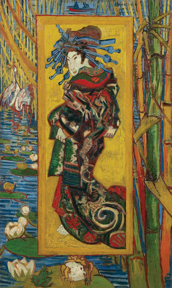 Van Gogh's 1887 work Courtesan (after Eisen) is among 40 on loan from Amsterdam