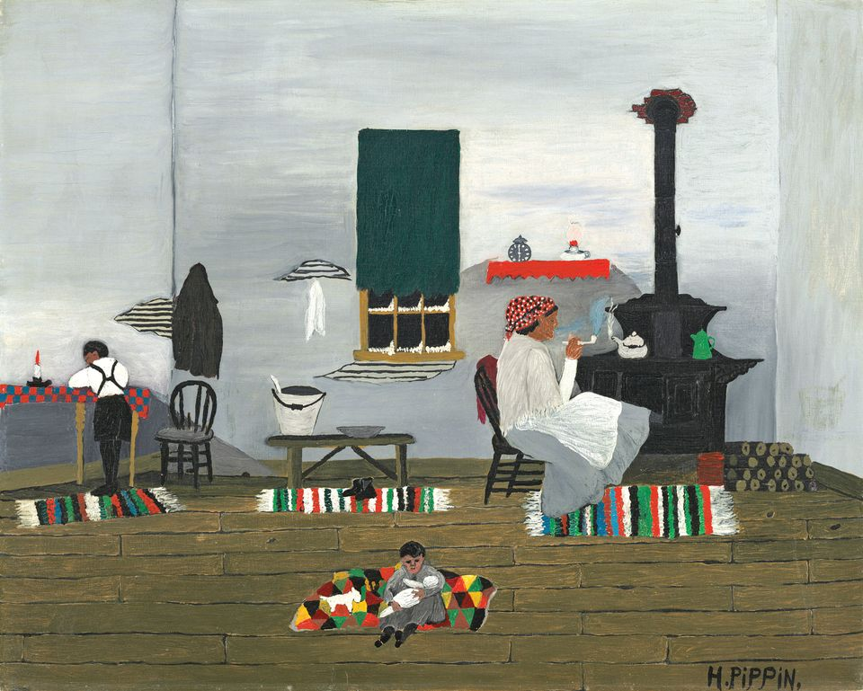 Interior (1944) by Horace Pippin
