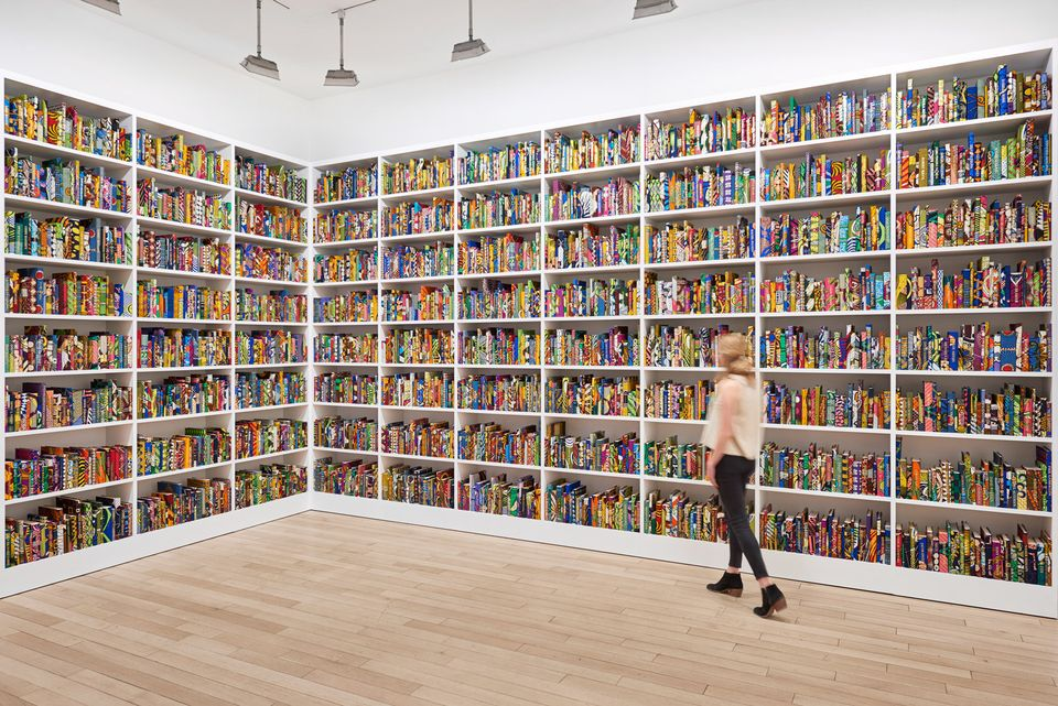 Yinka Shonibare's The British Library (2014). He has created a new version for the US