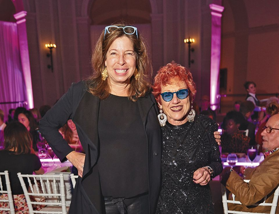 Feminist fun: Brooklyn Museum director Anne Pasternak (left) with Judy Chicago