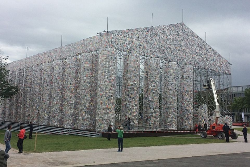 Marta Minujin's Parthenon of Books at Documenta 14 in Athens