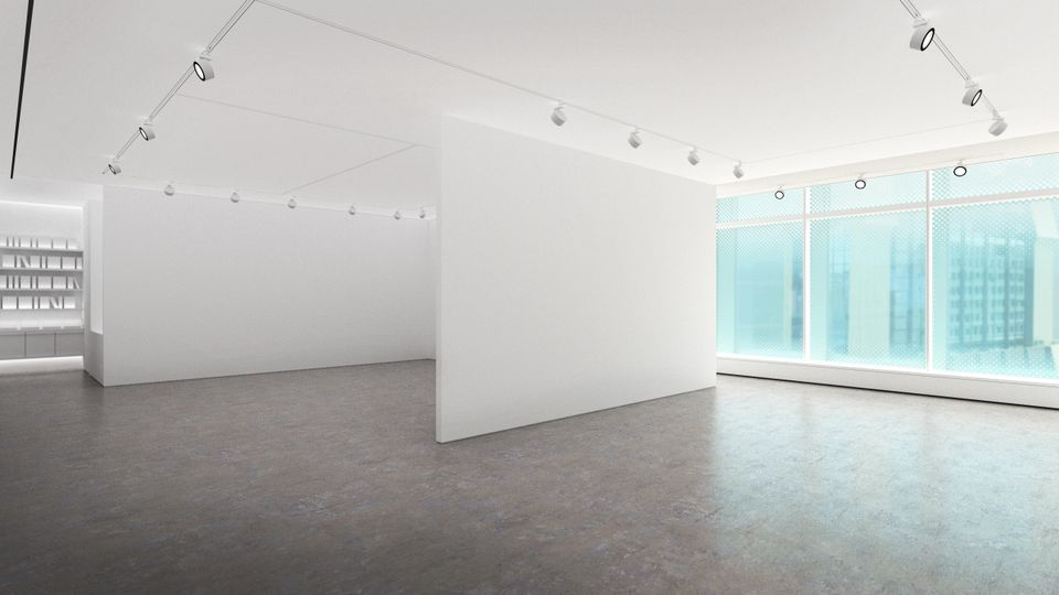 A rendering of the new gallery's interior