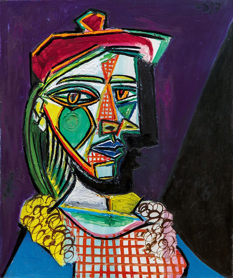 Picasso's Femme au béret et à la robe quadrillée (Marie-Thérèse Walter) (1937) will be offered at Sotheby's London in February