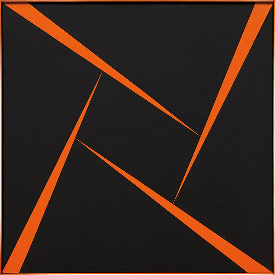 Carmen Herrera's Untitled (Orange and Black) (1956) sold for an artist-record $1.2m in Phillips' 20th Century and Contemporary Art evening sale in New York in November 2017