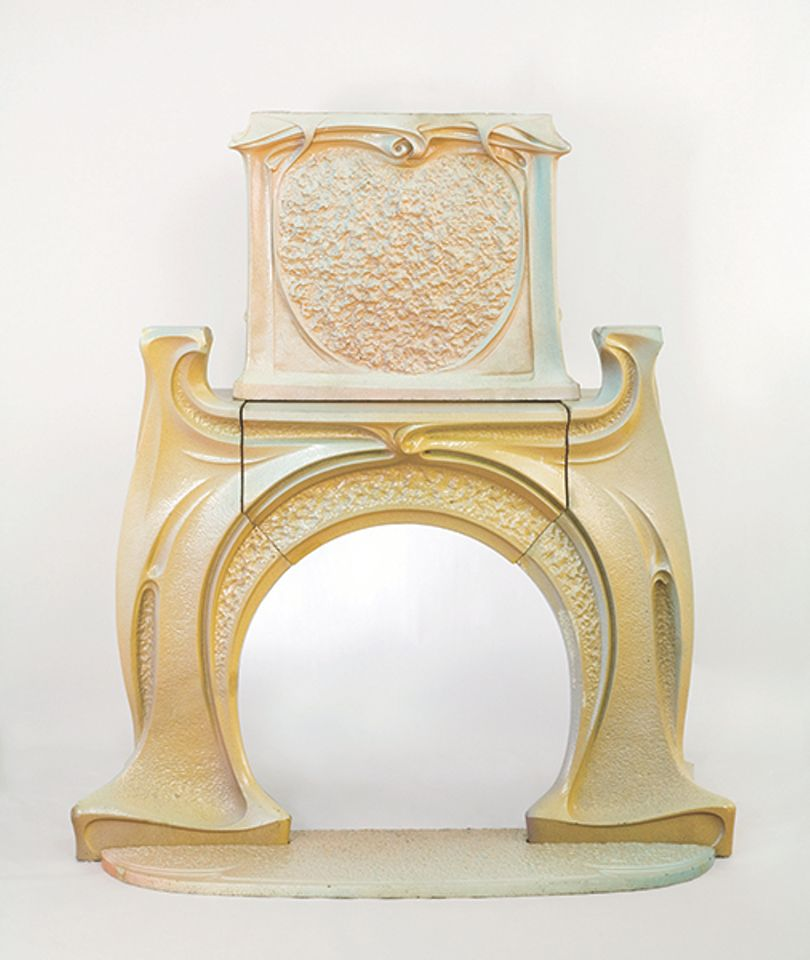 A fireplace and chimney piece (around 1900) by Hector Guimard, presented by Jason Jacques Gallery