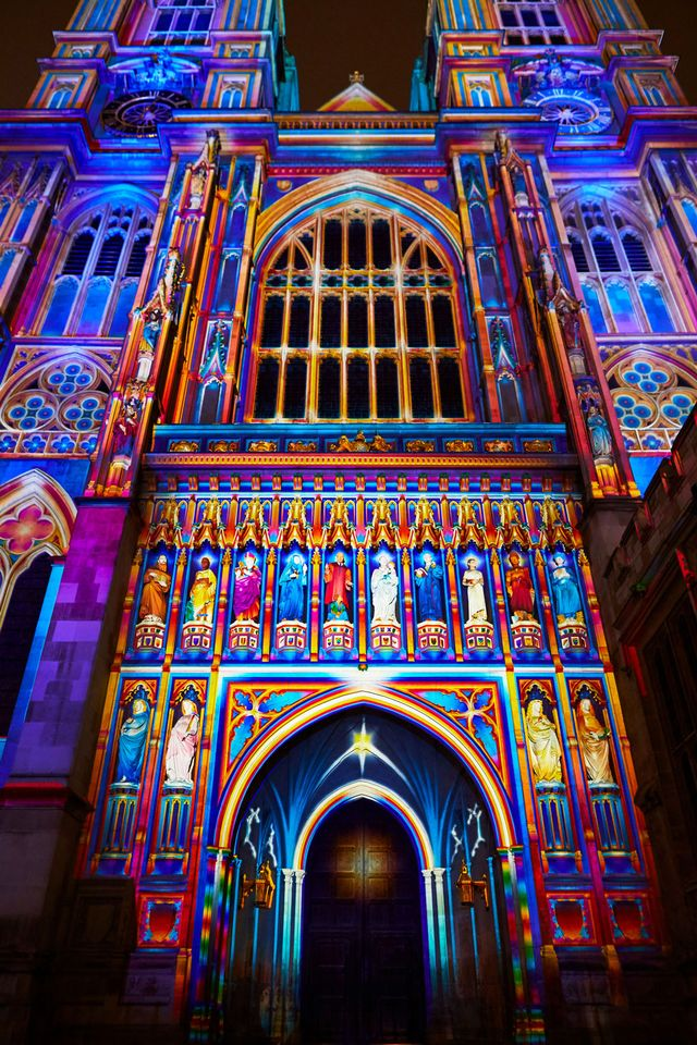 The Lumiere London (18-21 January) festival was launched today with more than 50 works by UK and international artists creating an immersive light and sound experience across the city, including The Light of the Spirit Chapter 2 by Patrice Warrener, projected onto Westminster Abbey.