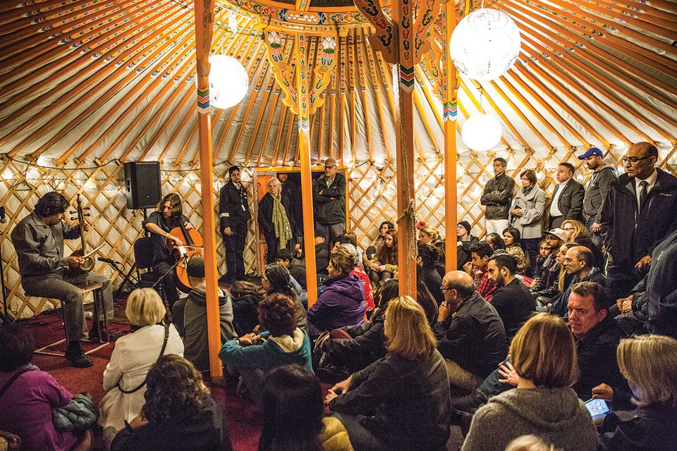 Performances will be staged inside the yurt at the Aga Khan show Listening to Art, Seeing Music