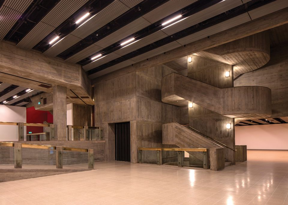 The interior of the newly revamped Hayward Gallery