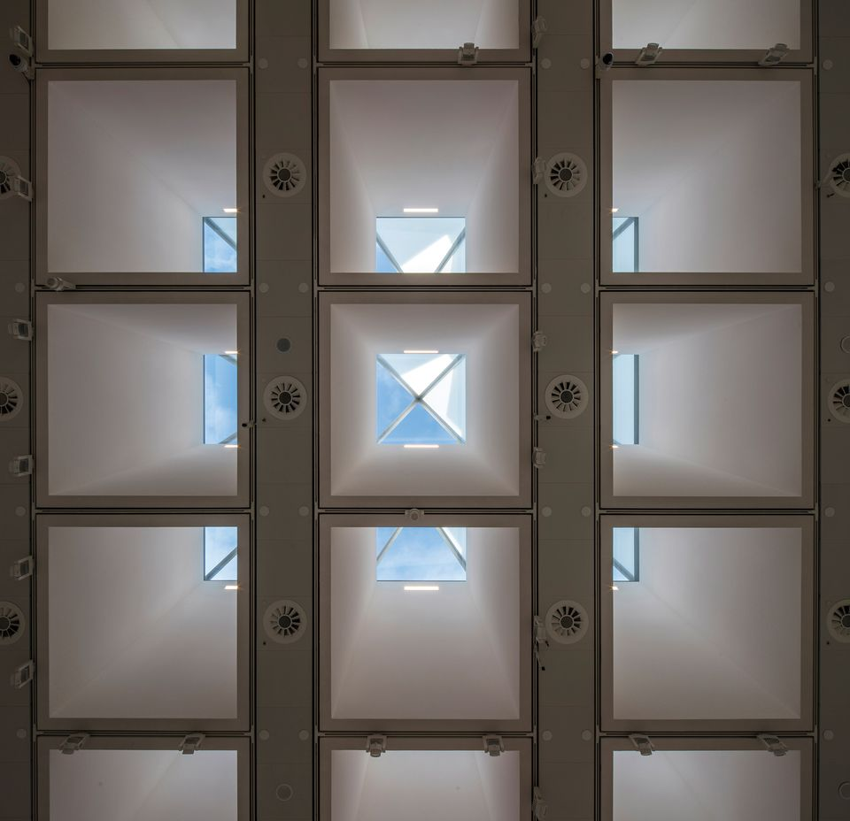 The Hayward Gallery's new skylights seen from inside