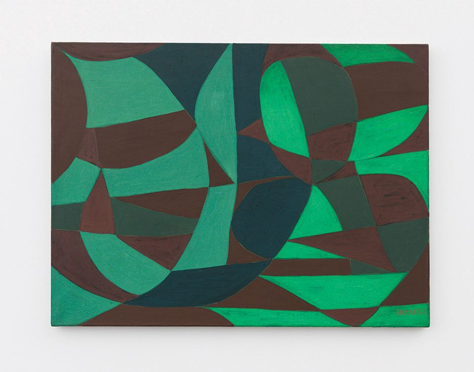 Carmen Herrera's Green Garden (1950) was one of the works tested before the artist's Whitney show