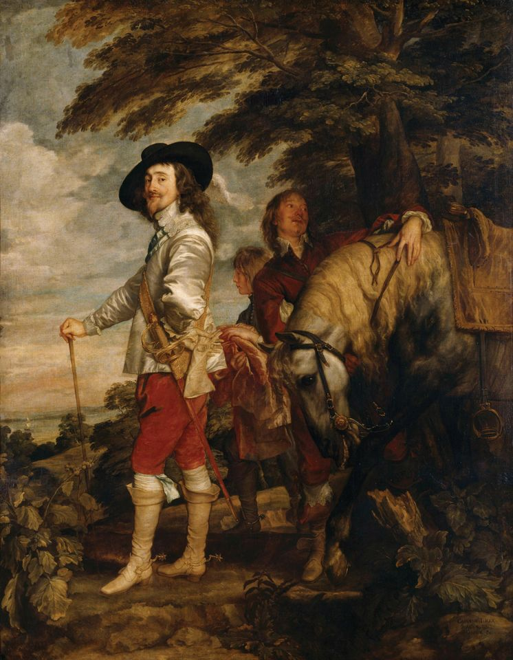 "Anthony van Dyck's Charles I in the Hunting Field or ""Le Roi à la Chasse"" (around 1636)"