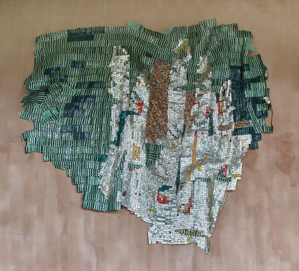 El Anatsui, Intimation (2014), with Axel Vervoordt at Brafa