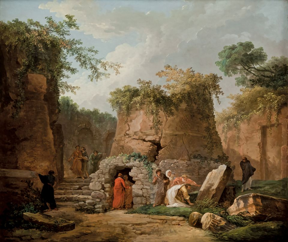 Leaving the La Salle art collection: Hubert Robert's The Tomb of Virgil at Posilipo, near Naples (1784)