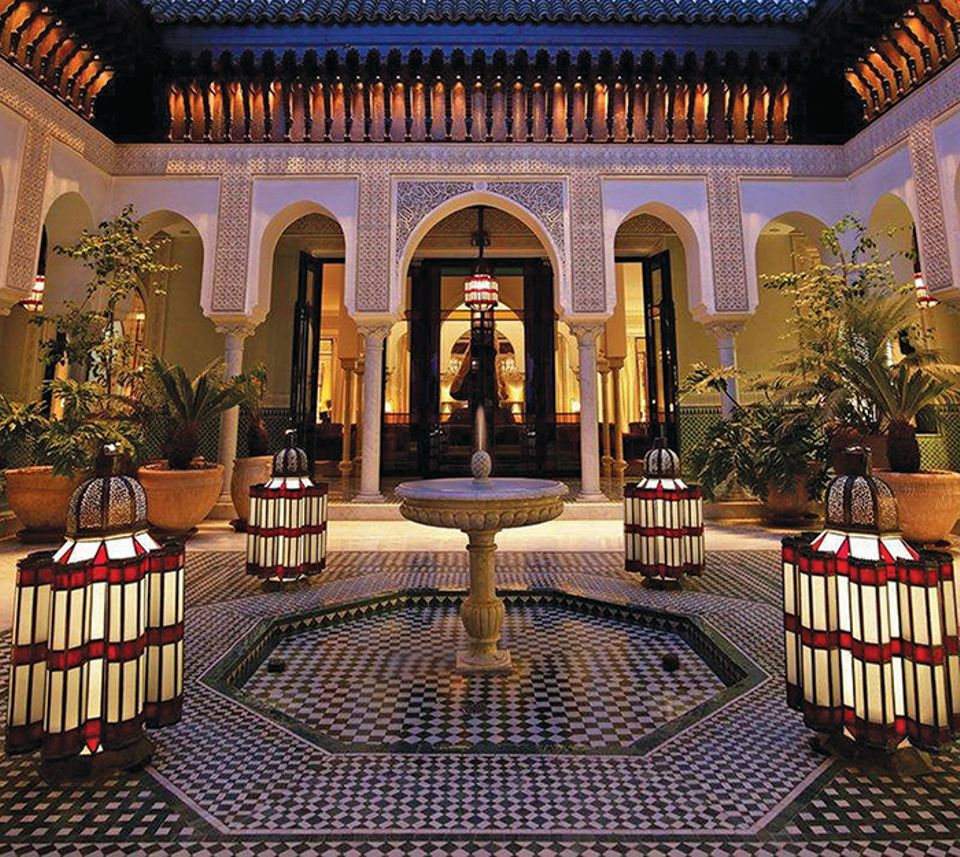 La Mamounia, the historic hotel that will host the fair