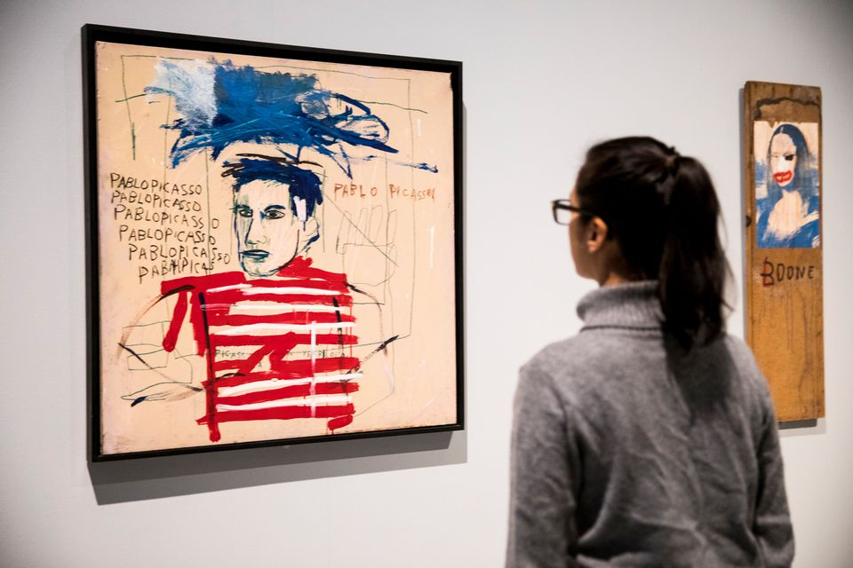 Jean-Michel Basquiat's Untitled (Pablo Picasso) (1984) is on show in Basquiat: Boom For Real at Barbican Art Gallery, London
