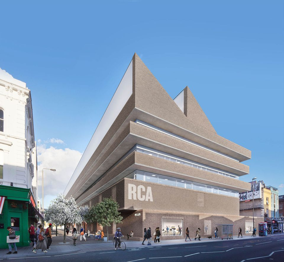 A rendering of the new RCA campus by Herzog & de Meuron