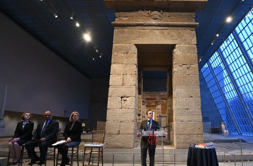 Daniel Weiss, the current president and chief operating officer of the Metropolitan Museum of Art, speaking at the launch of an emergency red list of cultural objects from Yemen