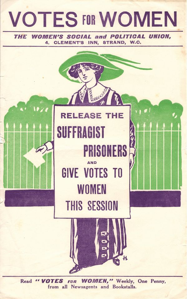 This leaflet from the Women's Social and Political Union will be exhibited at the LSE