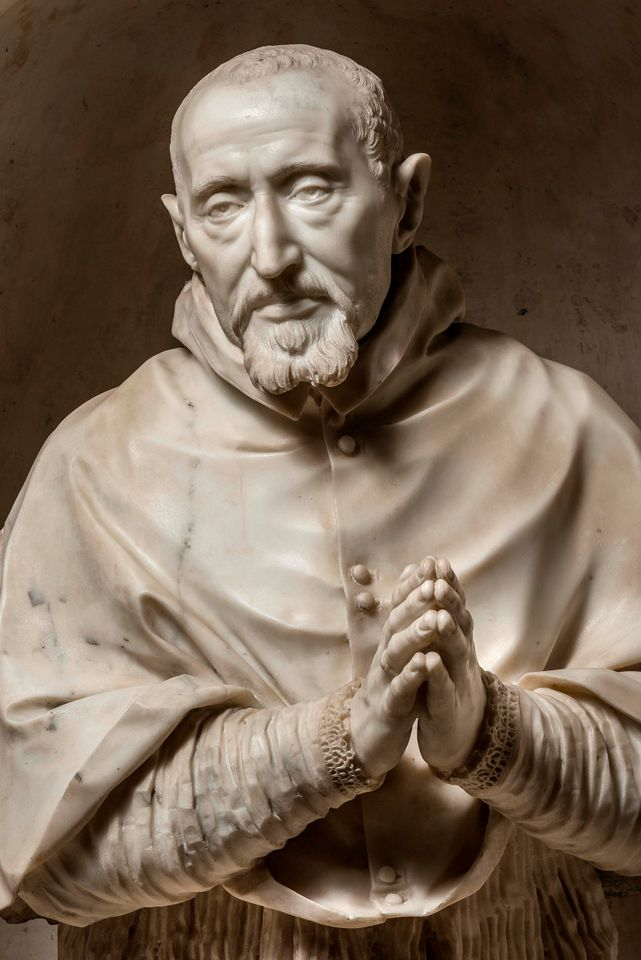 Gian Lorenzo Bernini, Bust of Cardinal Roberto Bellarmino, 1623-24  Marble  30 ⅞ x 27 ½ x 19 ¾ in. (76.5 x 70 x 50 cm)  Church of the Gesù, Rome