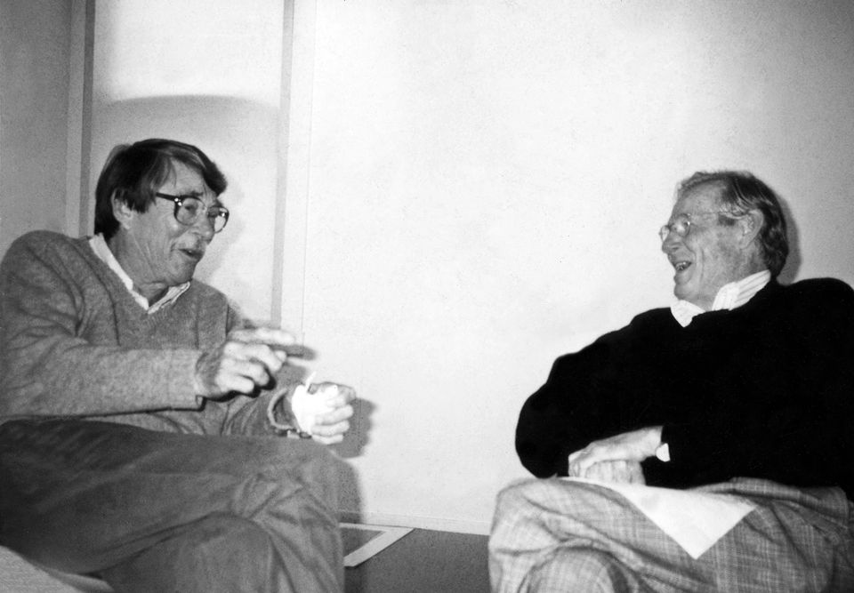 Richard Diebenkorn and Wayne Thiebaud, around 1991