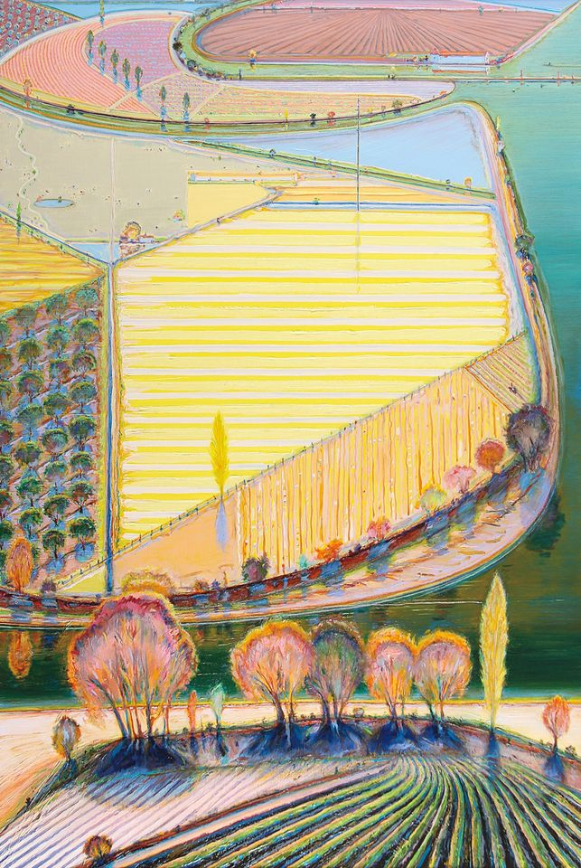 Wayne Thiebaud Green River Lands, 1998 Oil on canvas, 72 x 48 inches