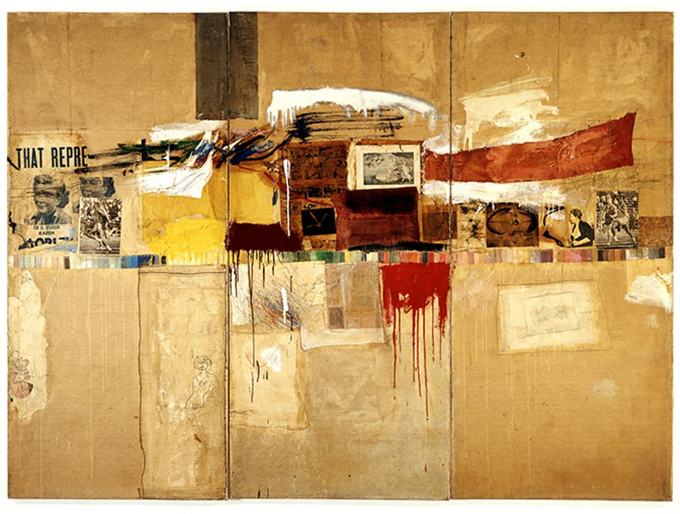 Robert Rauschenberg's Rebus (1955), originally sold by the artist's dealer, Leo Castelli, for $2,800