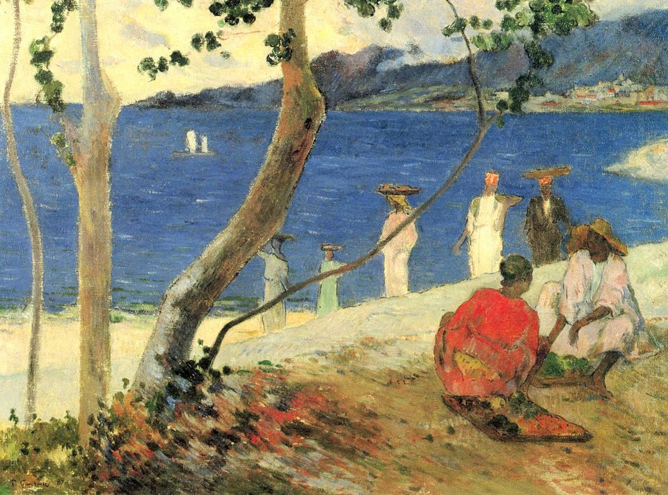 Gauguin's Fruit Porters at Turin Bight was in a Parisian private collection in the 1990s but has since been sold.