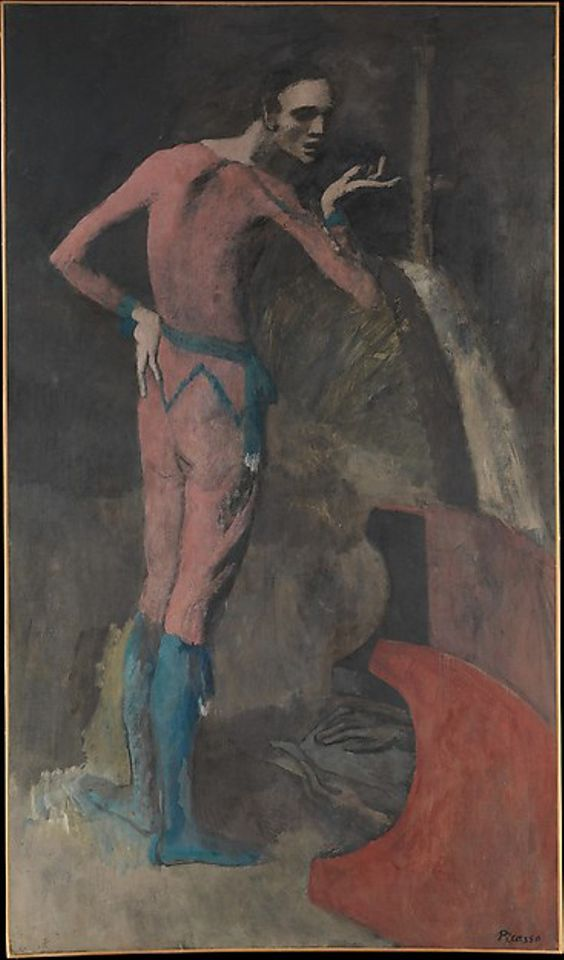 Pablo Picasso (Spanish, Malaga 1881–1973 Mougins, France) Date:1904–5 Medium:Oil on canvas Dimensions:77 1/4 x 45 3/8 in. (196.2 x 115.3 cm) Classification:Paintings Credit Line:Gift of Thelma Chrysler Foy, 1952 Accession Number:52.175 Rights and Reproduction:©