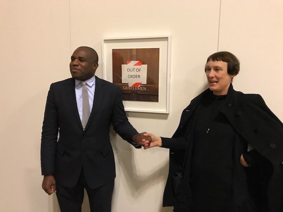 Cornelia Parker with the Tottenham Member of Parliament David Lammy