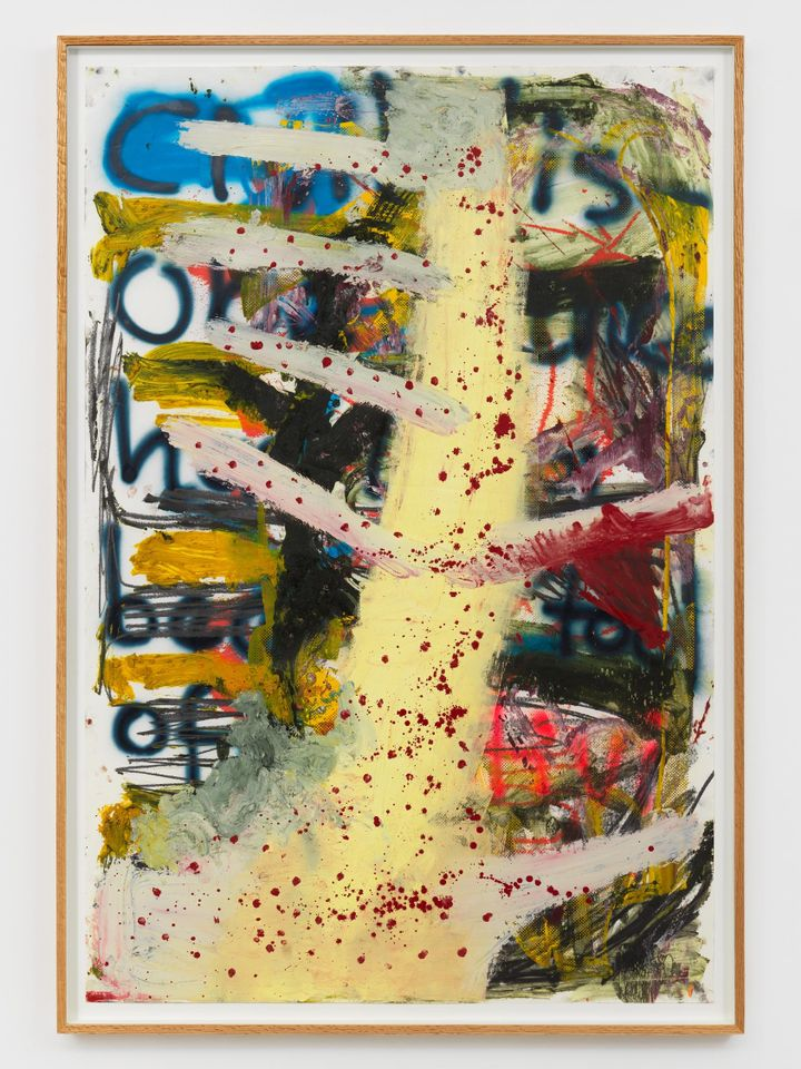 Manifestation of Loss, 13 (2017) by Oscar Murillo, sold by David Zwirner