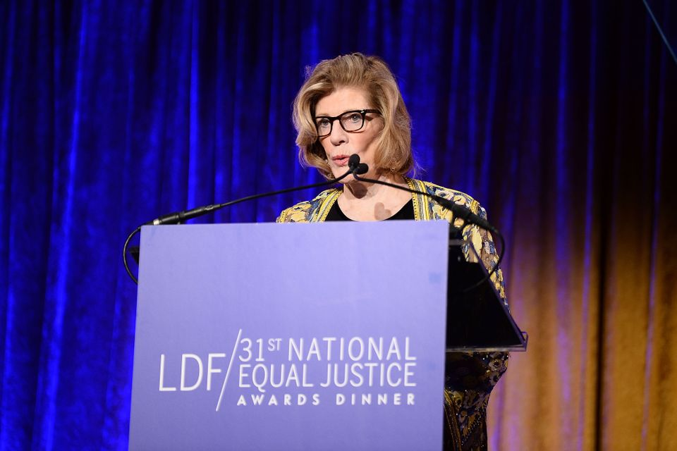 Agnes Gund on stage during the LDF 31th National Equal Justice Awards Dinner at Cipriani 42nd Street on November 2, 2017 in New York City.  (.)