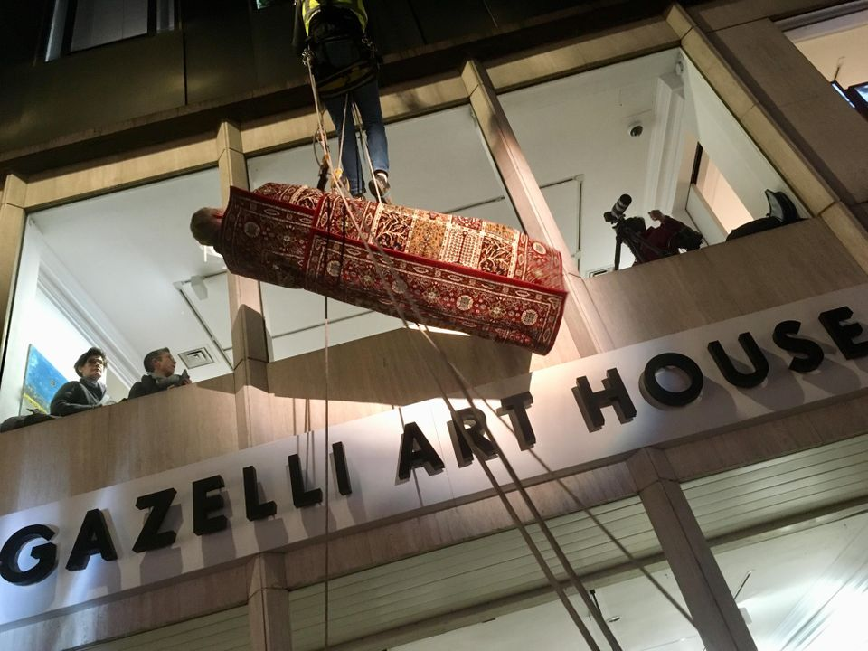 Fyodor Pavlov-Andreevich hanging from London's Gazelli Art House
