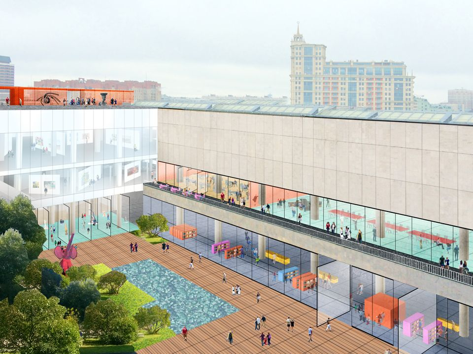 Rem Koolhaas's concept design for the refurbishment of the New Tretyakov in the Central House of Artists building