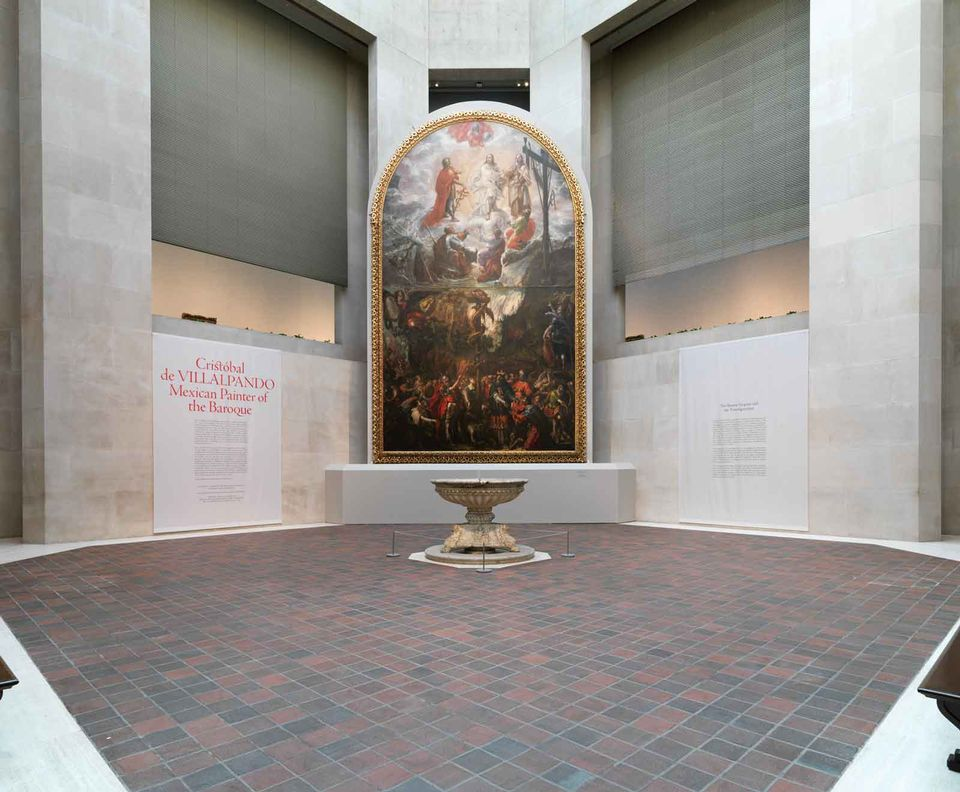 Cristóbal de Villalpando's Moses and the Brazen Serpent and the Transfiguration of Jesus (1683) installed at the Met for its show last year