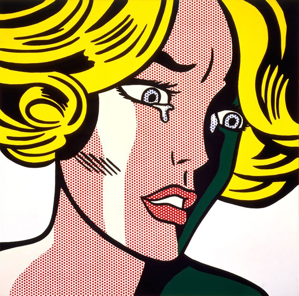 Roy Lichtenstein's Frightened Girl (1964)