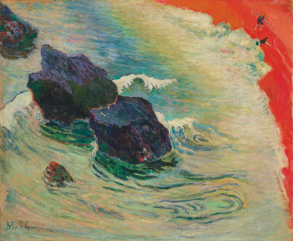 Paul Gauguin's La Vague (1888)