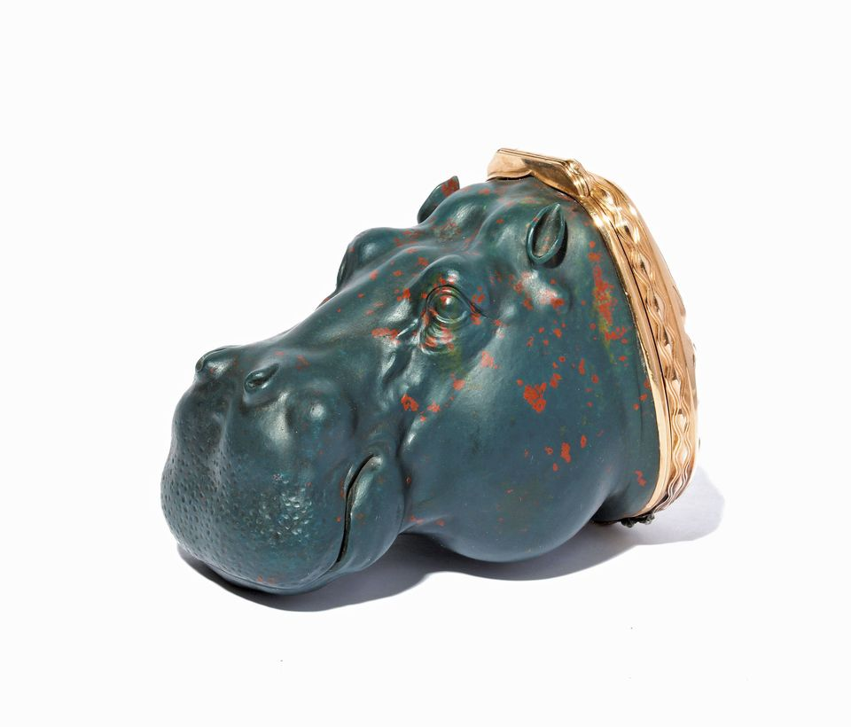 A box in the shape of a hippopotamus's head (around 1896), at Tefaf with A La Vieille Russie