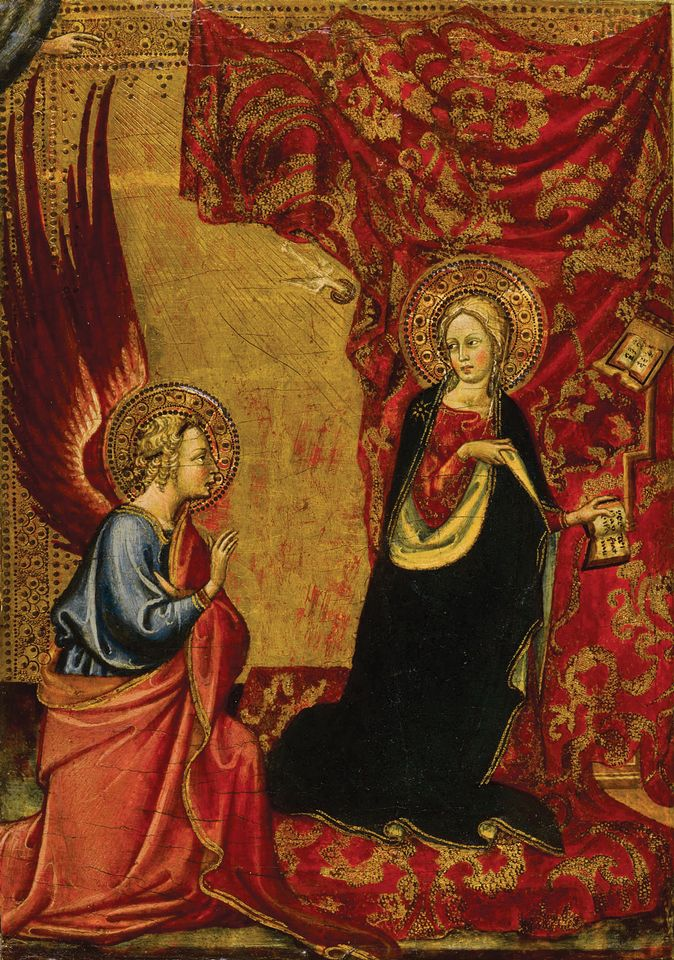 Alvaro Portoghese's The Annunciation (1430-34) sold at Sotheby's for $435,000 last month—a record for the artist at auction