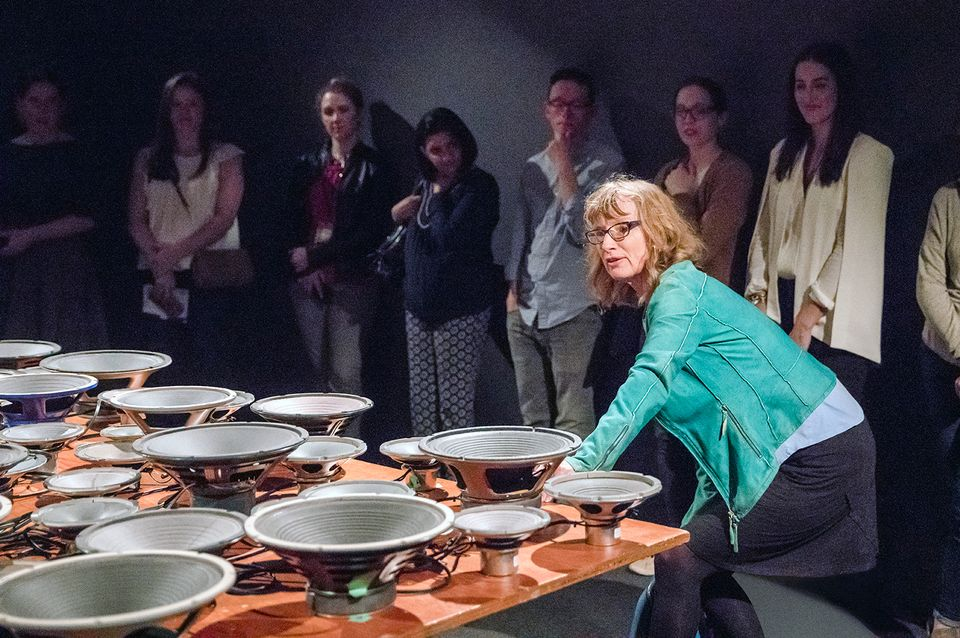 Janet Cardiff demonstrates how to play Experiment in F# Minor (2013)