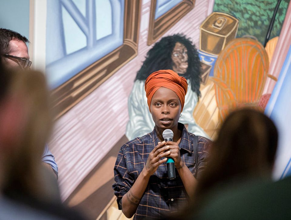 Toyin Ojih Odutola discusses her work at her Scad Museum of Art exhibition Testing the Name