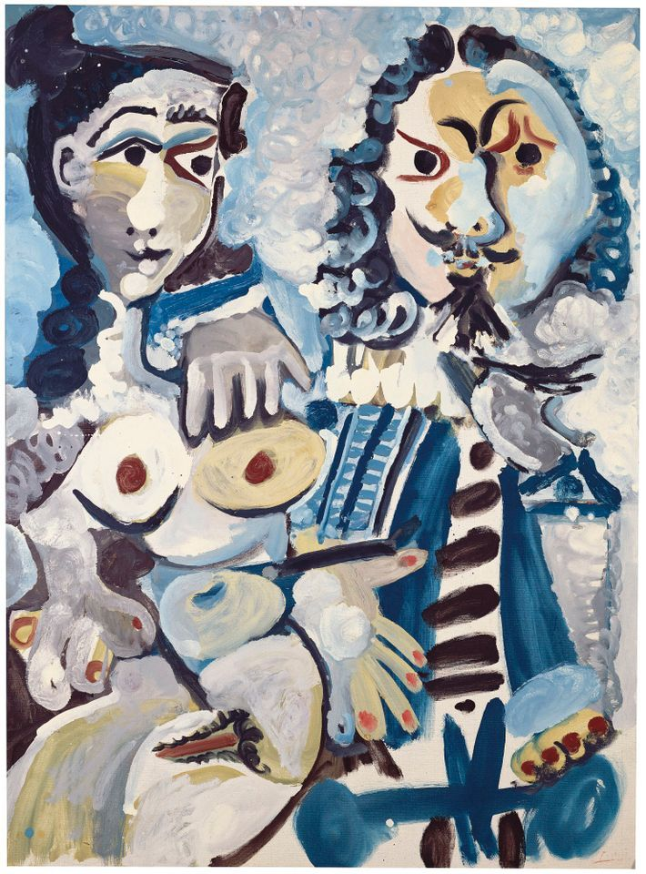 Mousquetaire et nu assis by Picasso, sold for £13.7m at Christie's