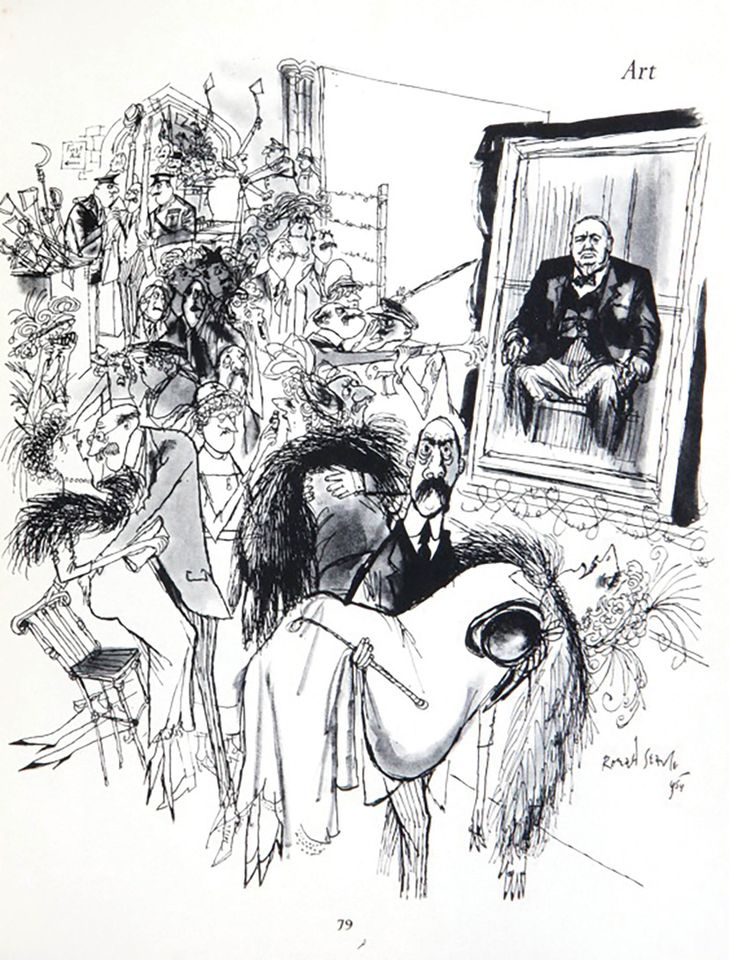 Ronald Searle's Art: The British public knowing what it likes... (1954)