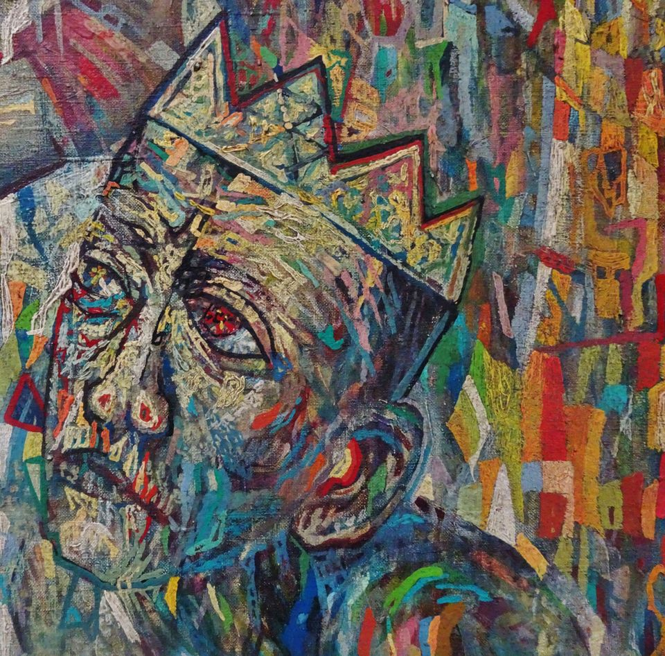 Detail of painting presented in Ghent as Pavel Filonov's Supreme Being (1914)