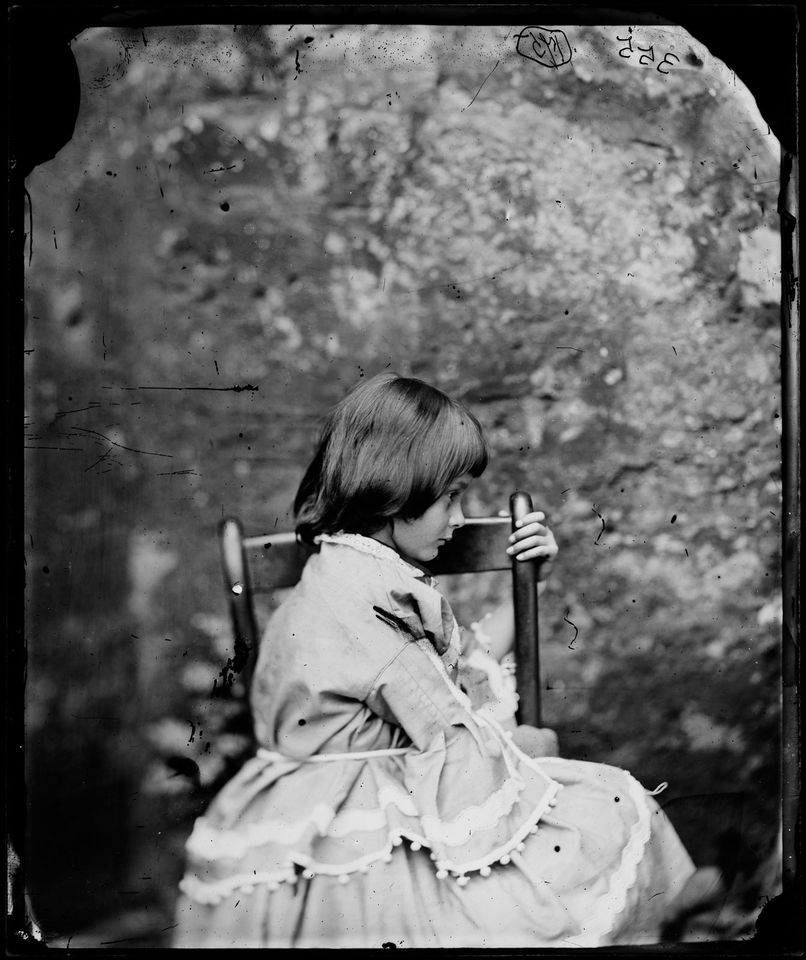 Lewis Carroll's photograph of Alice Liddell (1858) is on show at the National Portrait Gallery