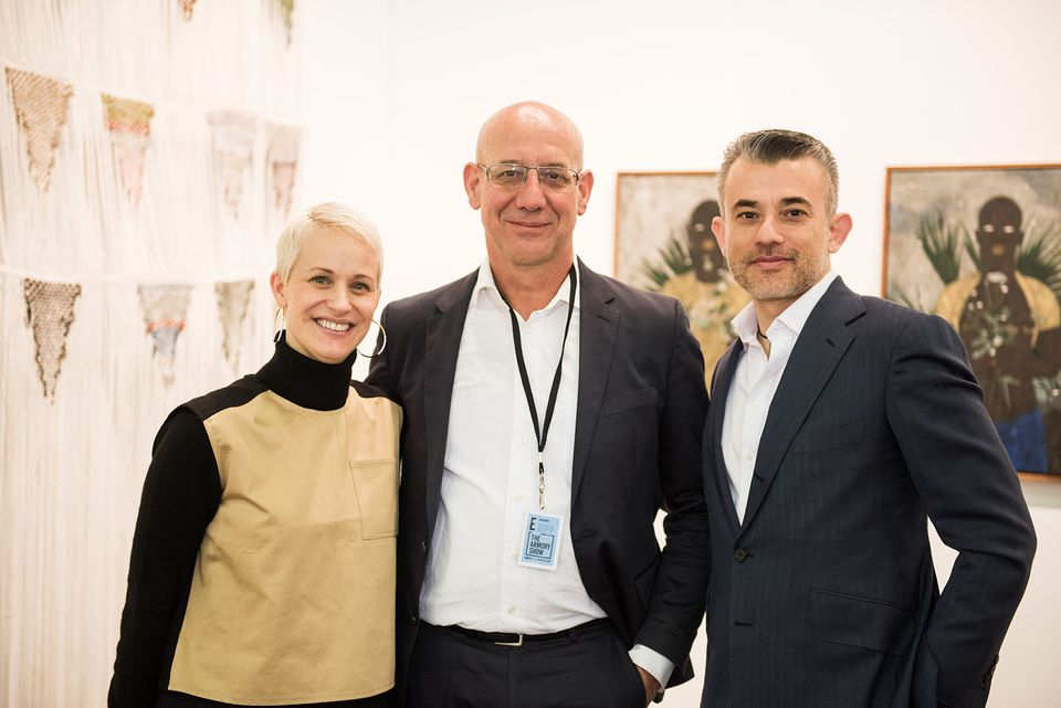 The Armory show's director Nicole Berry with black projects founder Jonathan Garnham