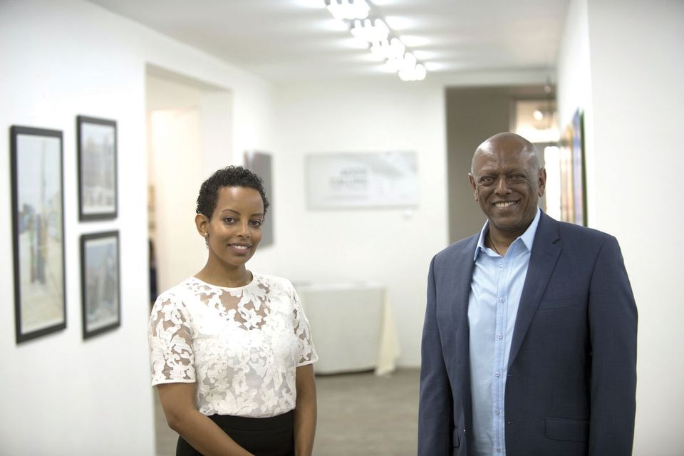 Rakeb Sile and Mesai Haileleul of the pioneering Addis Fine Art are showing in Dubai