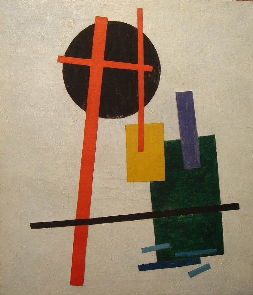 Kasimir Malevich, Suprematism (1915-16) was one of the seized paintings