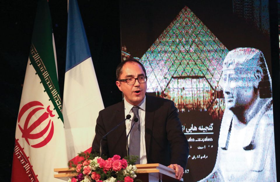 Martinez speaks at the opening of the landmark Louvre        exhibition in Iran